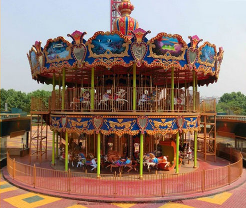 Amusement Park Antique Carousels Provide Great Enjoyment