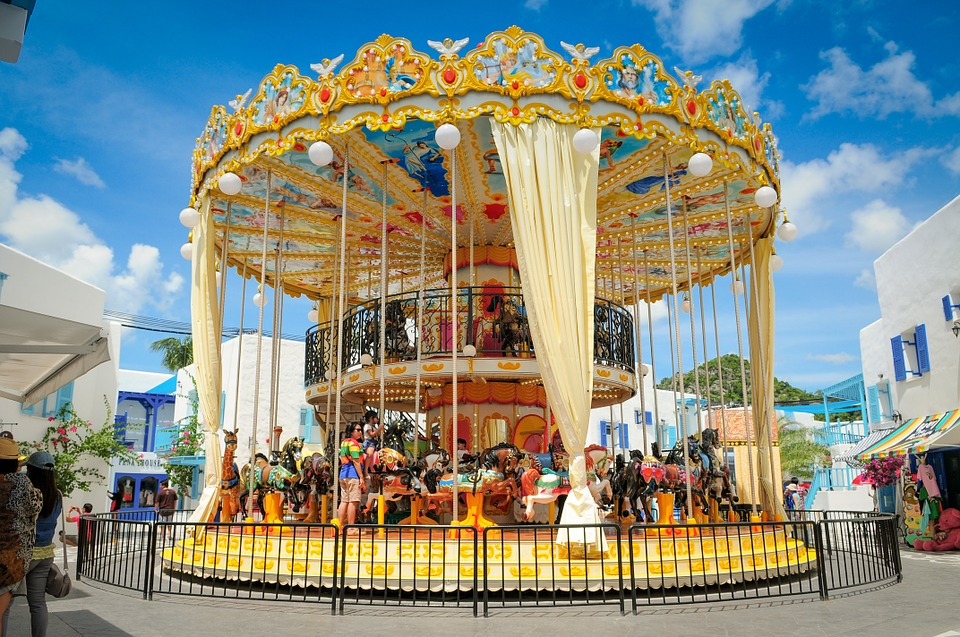 Carousel Equipment In The Theme Park