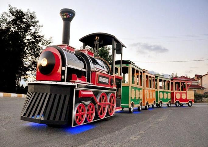 Diesel And Electric Powered Trackless Trains Explained