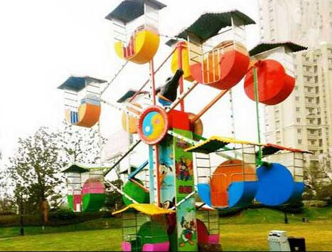 Double Face Ferris Wheels Become New Novel Attraction At Amusement Parks
