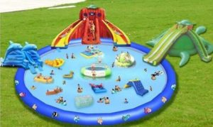 Have Fun With These Colorful Inflatable Water Slides