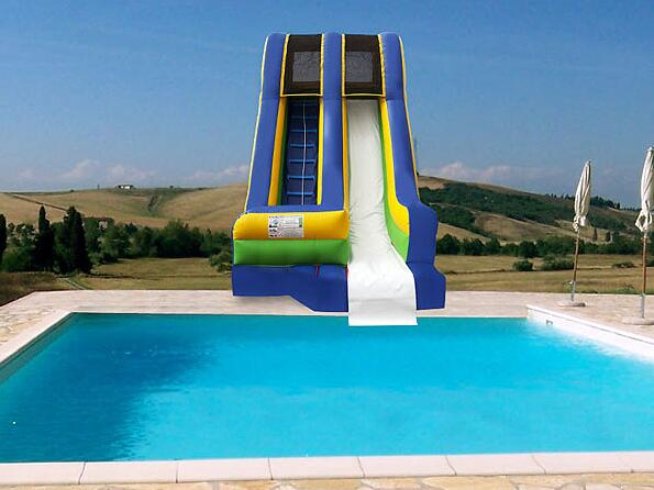 Inflatable Bounce House With Water Slide: Summertime Fun