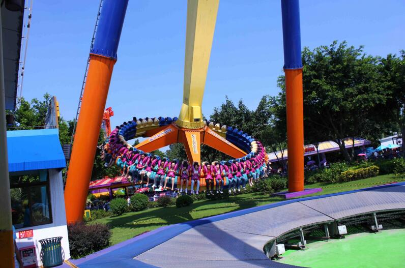 The Giant Frisbee Theme Park Ride Offers Thrills And Chills