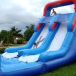 Where To Find An Inflatable Double Slip And Slide With Pool