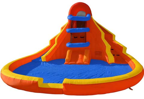 BIS-029 Inflatable Outdoor Water Slide with Climbing Wall for Sale