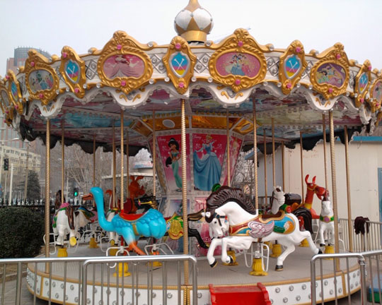 BAR-16A Fiberglass kiddie Carousel Carnival Rides for Sale in Beston