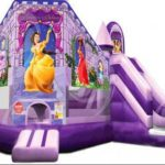 Delight Your Little Girl With A Pink Princess Carriage Bounce House