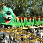 Riding On The Most Popular Mini Roller Coaster For Kids