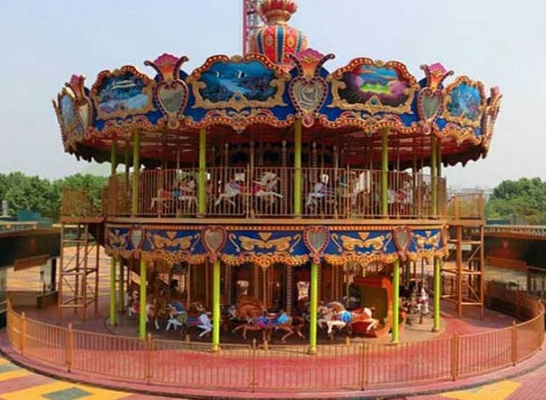 Why Not Ride A Double Decker Carousel At The Amusement Park?