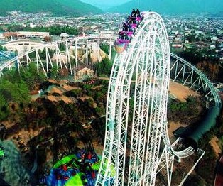 Amusement Parks With Large Roller Coasters Attract Thrill Seekers From All Over The World
