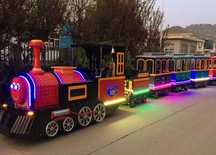 Gorgeous Trackless Train Ride For Christmas Day