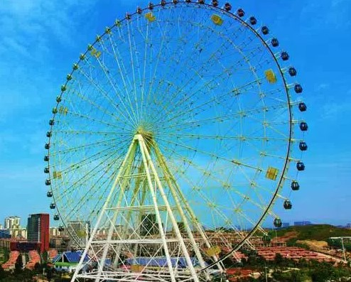 People Love The Big Ferris Wheel At Any Amusement Park