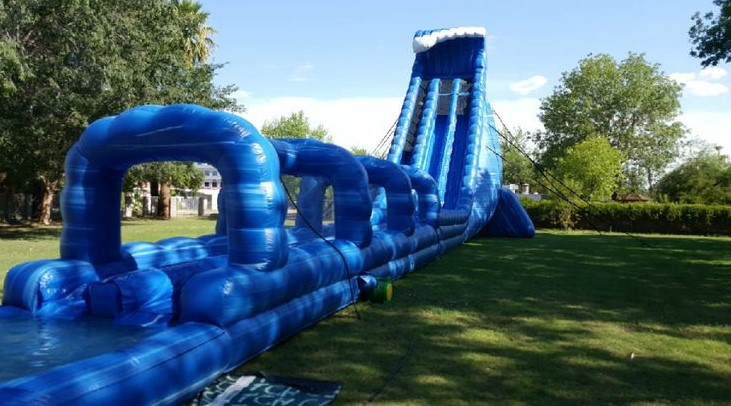 When You Use Big, Inflatable Water-Slides As Party Entertainment